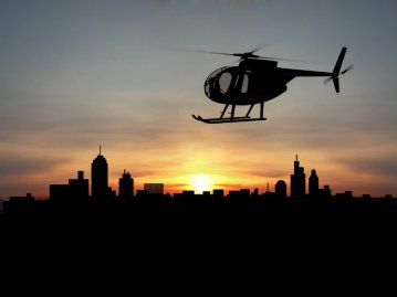 helicopterinthe evening